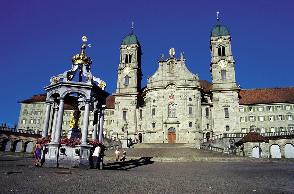Monasterio de Einsiedeln, en el norte de Suiza, donde arranca la guía de Hermann Künig. Imagen de Heinz Schwab/ Switzerland Tourism