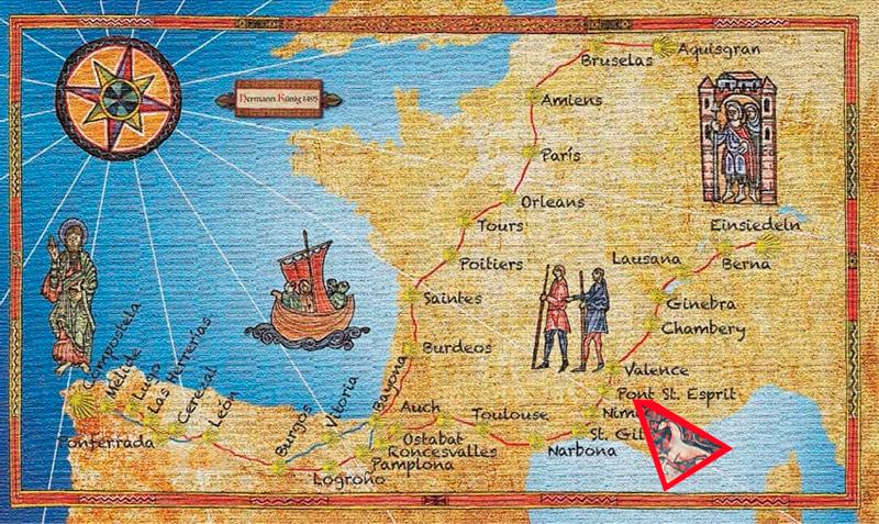 mapa de la ruta de Künig