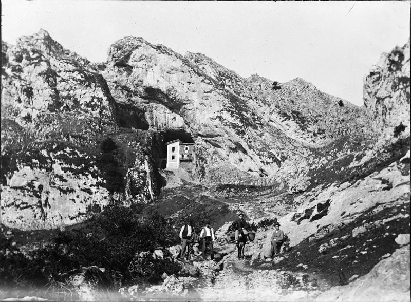 Túnel de San Adrián hacia 1900