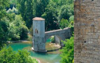 Puente de la Leyenda sobre el Gave de Oloron